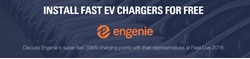 Banner, dark blue overlay, engenie, install chargers for free