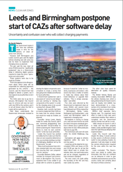 Leeds and Birmingham postpone start of CAZs after software delay article