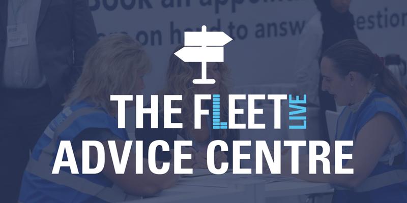 Fleet Live Advice centre, blue overlay on image, logo
