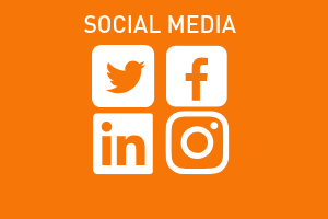 orange graphic, social media