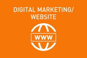 orange graphic, digital marketing/website