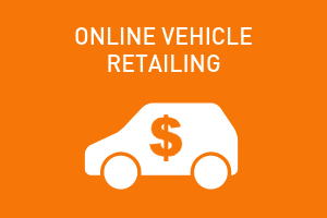 orange graphic, online vehicle retailing