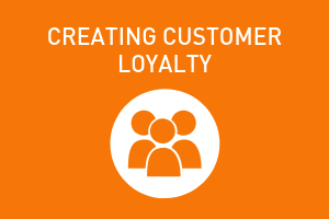 orange graphic, creating customer loyalty