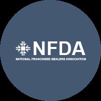 NFDA, blue circle, logo