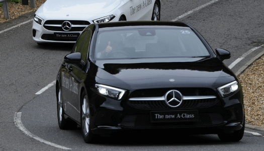 Mercedes-Benz A-Class test driving