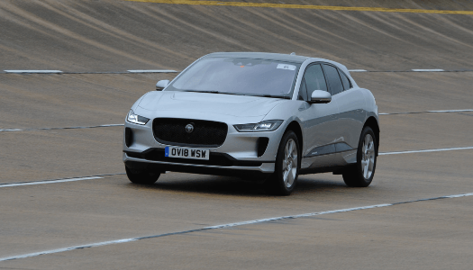 Jaguar I-Pace test driving