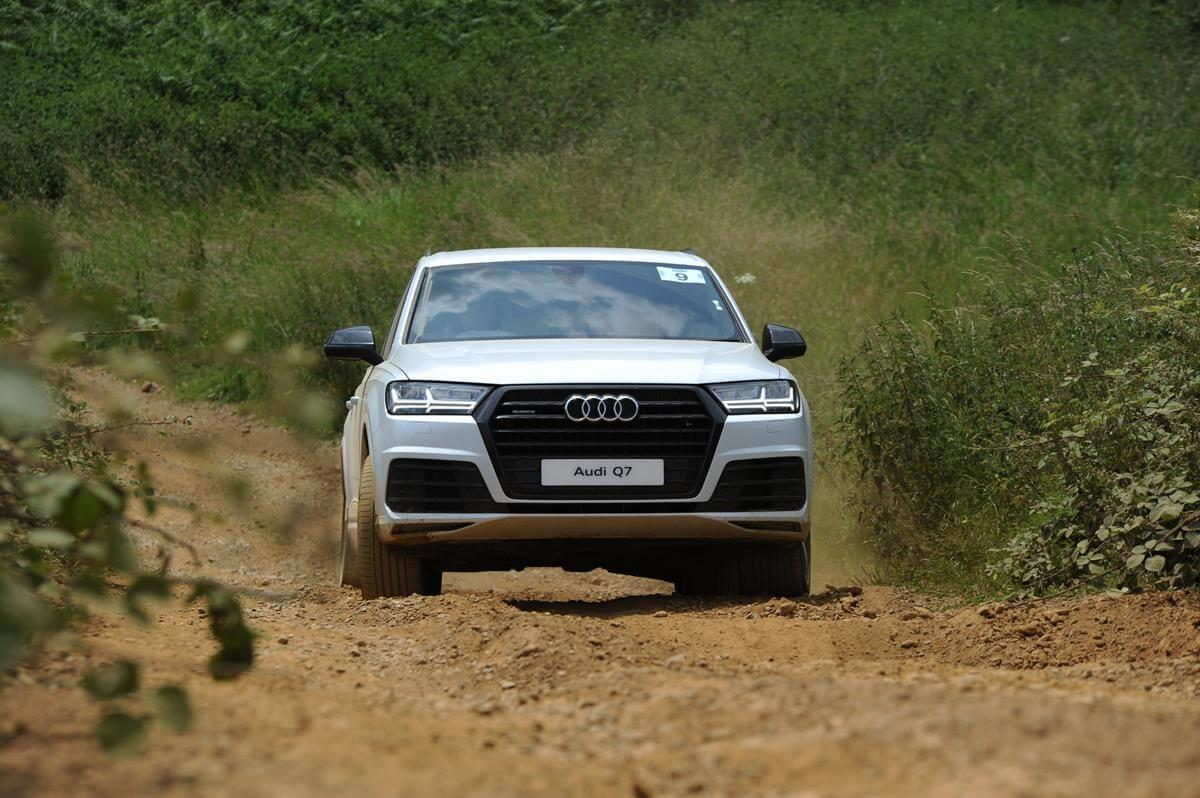 Audi Q7 on off-road course