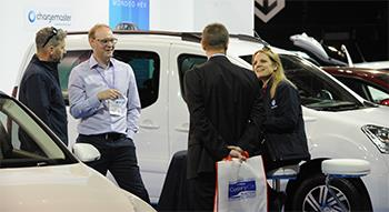 Visitors discussing with fleet experts in Zero and Ultra-low emission zone