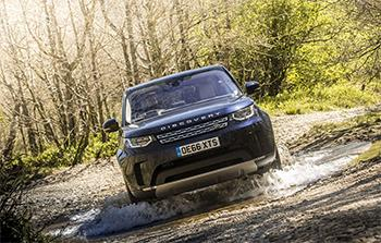 Land Rover Discovery Sport off-road test driving