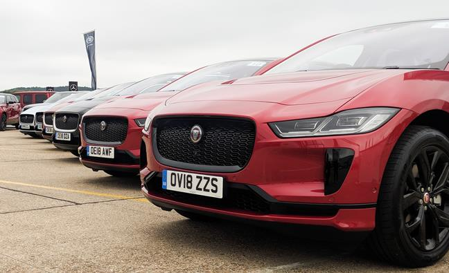 A fleet of all-electric Jaguar I-Paces at Company Car in Action