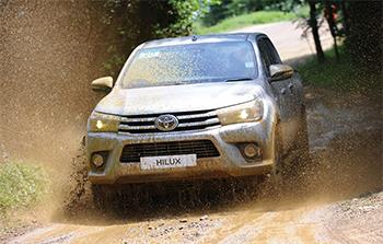 Toyota Hilux Invincible driving at Millbrook Proving Ground
